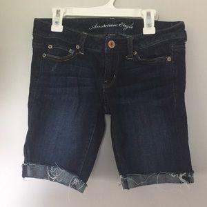 Dark American Eagle Denim Shorts
